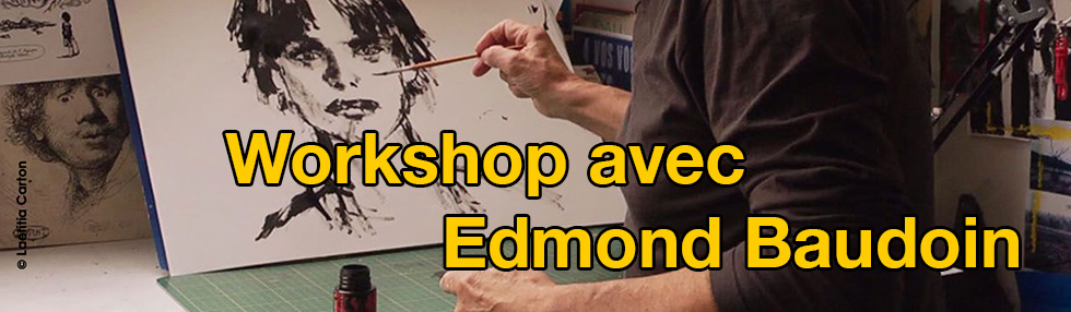 Workshop avec Edmond Baudoin